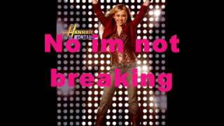 Hannah Montana The Climb Karaoke w/lyrics