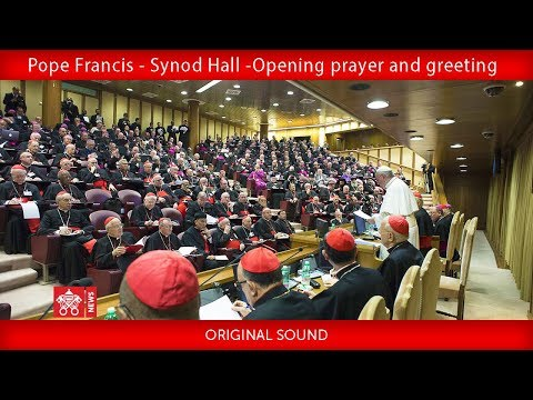 Pope Francis - Synod Hall -Opening prayer and greeting 2018-10-03