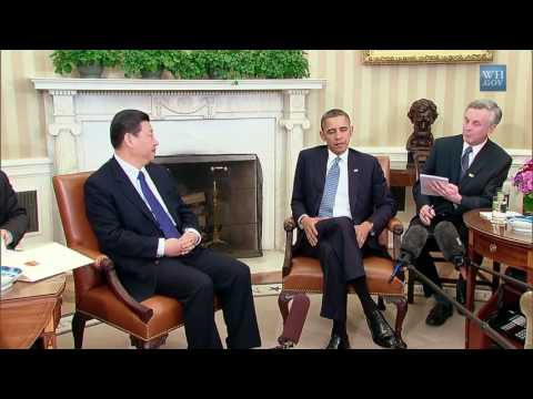 Chinese-English consecutive intrepretation whith President Obama Part 1