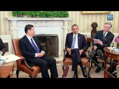 Chinese - English consecutive intrepretation whith President Obama Part 1
