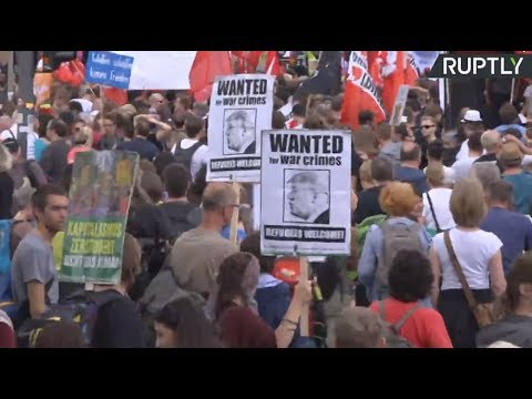 Protesters march against G20 in Hamburg