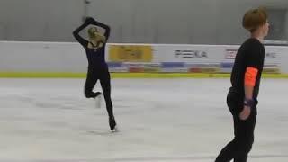 Алена Косторная показала невероятные прыжки из новой произвольной программы 3А