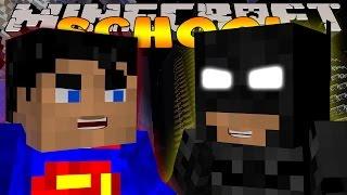Minecraft School :  BATMAN VS SUPERMAN!