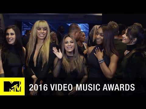 Fifth Harmony Celebrates Their Win Backstage | 2016 Video Music Awards | MTV