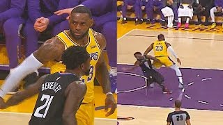 LeBron James Gets Sick Of Patrick Beverley Who Shows Him No Fear! Lakers vs Clippers