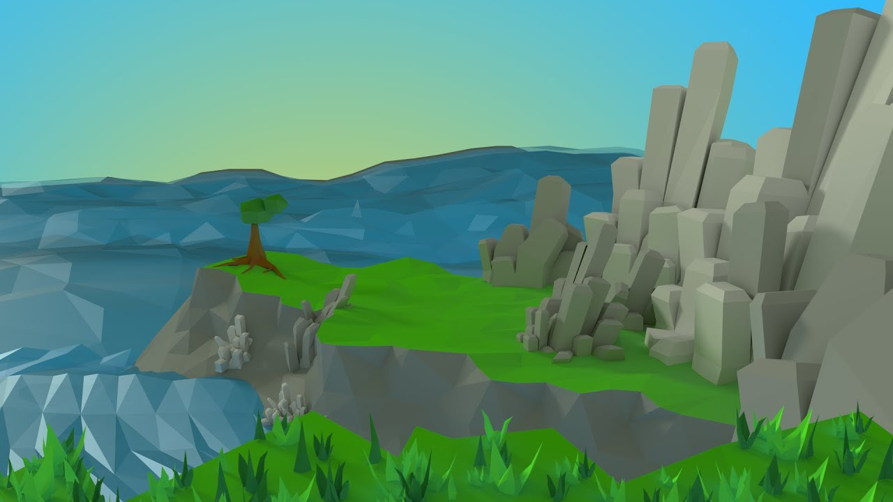3d Unity Live Wallpaper Blender 2 6 Low Poly Landscape Commentary Youtube