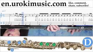Flute lessons Imagine Dragons - Natural Sheet Music Tutorial um-ih352 Video