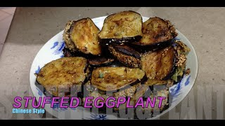 Stuffed Eggplant Chinese Style Cheekyricho Video Recipe