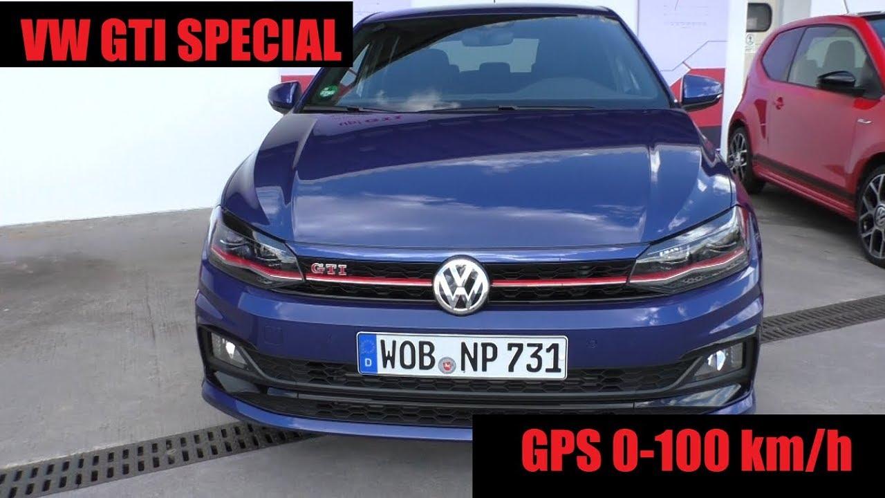 Golf R Vs Gti >> VW Polo GTI 2019 - GPS Acceleration - 0-100km/h - YouTube