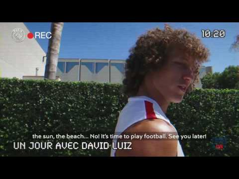 UN JOUR AVEC  DAVID LUIZ Part 1 English subtitles