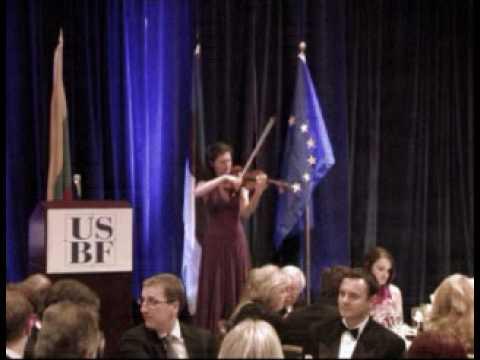 2010 U.S.- Baltic Gala- Violinist Diana Galvydyte performance