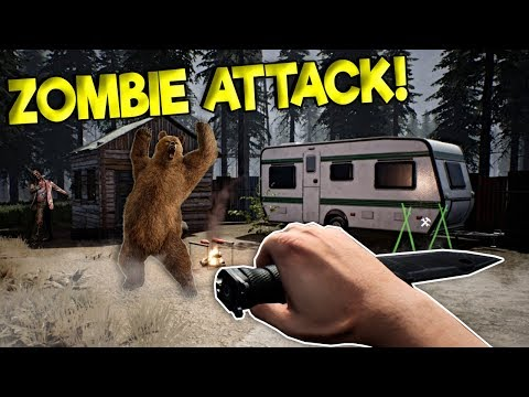 SURVIVING THE ZOMBIE APOCALYPSE & BEAR ATTACKS! - Mist Survival Gameplay - New Zombie Game!