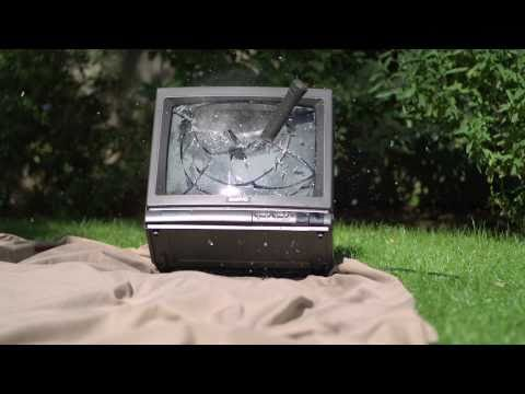 Smashing a TV in Slow Motion - The Slow Mo Guys