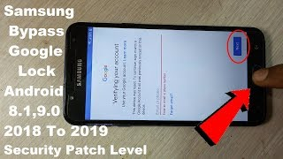 Final Method BYpass google account android 8.1,9.0 Patch level 2018 To 2019 100% Tested On J7 DUO