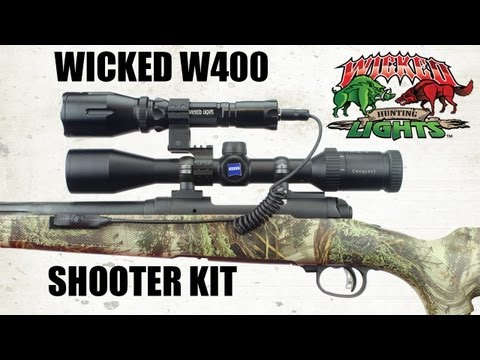 Wicked Lights Shooter Kit W400 Predator & Hog Night Hunting With White, Red, And Green LED