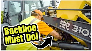 How to do a Backhoe Pre-Operation Inspection | Tractor Loader Backhoe Training
