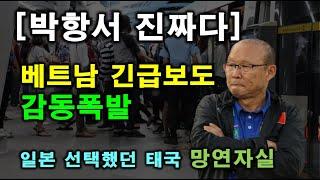[박항서 진짜다] 베트남 긴급보도, 감동폭발! 일본 선택했던 태국 '망연자실'