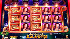 GARDEN of AMAZON JACKPOT STREAK!!!  BIG BONUSES!!! 1c Aristocrat Slot Game in CASINO