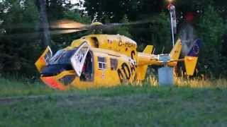 Take off Christoph 62 (Bautzen) Eurocopter BK-117 B2. D-HBAY