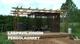 Rakenna paviljonki kesäkeittiölle: Pergolaorret