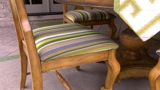 How To Upholster A Dining Room Seat - For An Outdoor Covered Porch