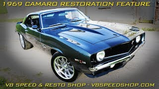 1969 Camaro Restoration Feature V8 Speed & Resto Shop Video V8TV