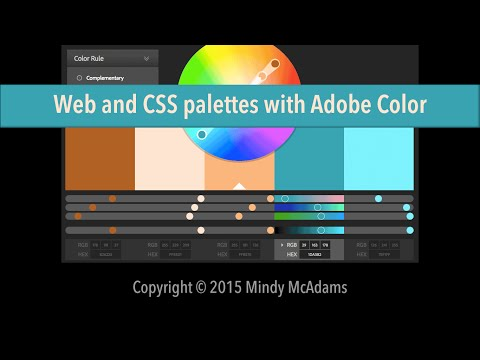 Web And CSS Palettes With Adobe Color