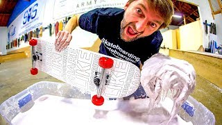 SKATING A POOL OF NON-NEWTONIAN FLUID?!