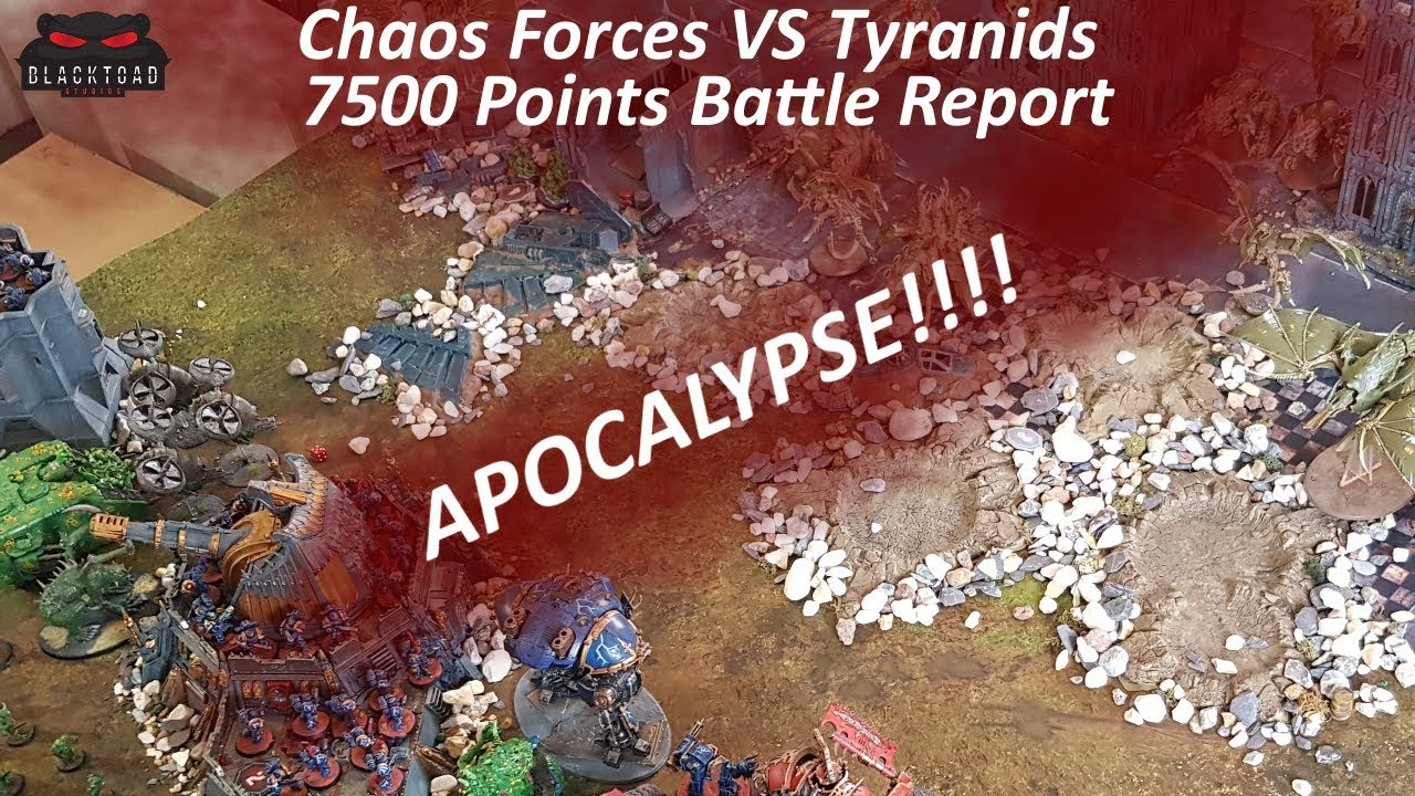Apocalypse 8th Edition - 7500 Points Tyranids vs Forces of Chaos -  Warhammer 40k Battle Report