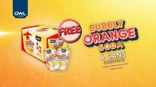 FREE OWL Bubbly Orange Soda (6 cans)