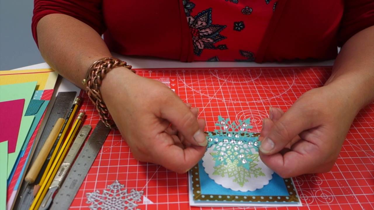 Create Personal Christmas Cards with your Snowflake Die - YouTube