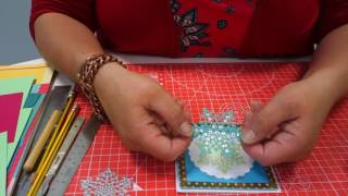 Create Personal Christmas Cards with your Snowflake Die