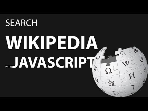 Search Wikipedia With JavaScript
