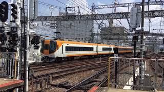 2019.8.18(日)12:39 近鉄 大和西大寺駅 【平面交差の風景】