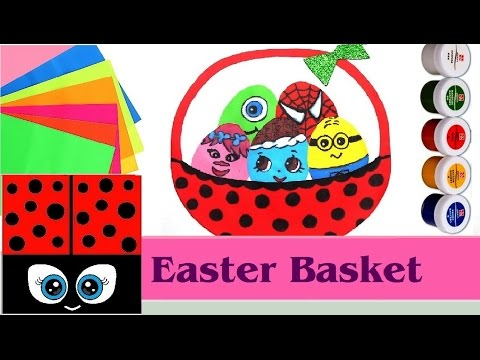 DIY Easter Basket With Eggs For Kids 🎨 🐇