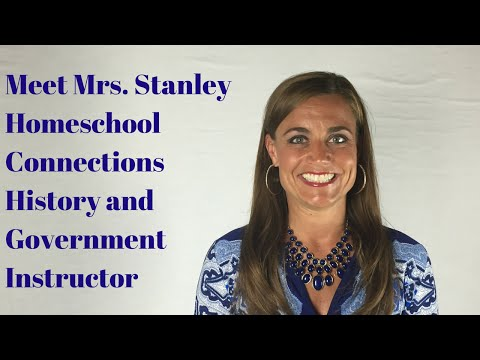 Homeschool History and Government Online: Meet Mrs. Stanley