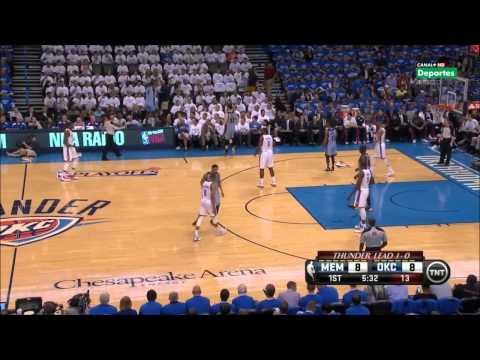 Tony Allen Lockdown Defense on Kevin Durant 2014 NBA Playoffs Part1