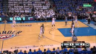Tony Allen Lockdown Defense on Kevin Durant 2014 NBA Playoffs Part1