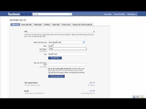 Thay đổi tên thật cho tài khoản FaceBook