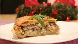 Рецепт-Куриный пирог с картофелем от videokulinaria.ru