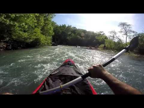 Old Town Vapor Kayak In Rapids