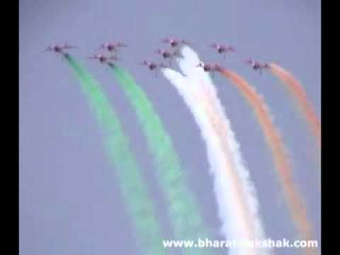 Indian Air Force's Surya Kiran aerobatics teams airshow display