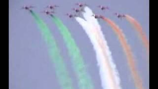 Indian Air Force's Surya Kiran aerobatics teams airshow display
