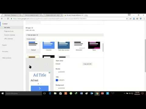 How To Create A Link Ad Unit In AdSense 2017