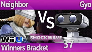 SW 37 Wii U - Neighbor (Sheik) vs Gyo (ROB) - Winners Bracket