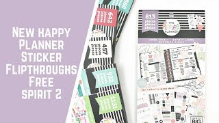 Free Spirit- NEW HAPPY PLANNER STICKER FLIPTHROUGHS