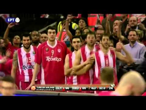 Olympiakos 100 - 88 Real Madrid - Τελικός τελευταίο λεπτό (Euroleague Final ...