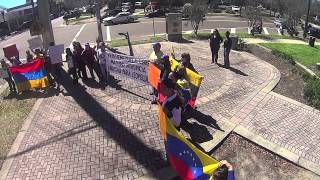 #SOSVenezuela Venezuelan National Anthem, Jacksonville, Florida March 2014