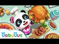 Cook & Serve in Panda Restaurant   Chef Pretend Play   Kids Songs collection   BabyBus