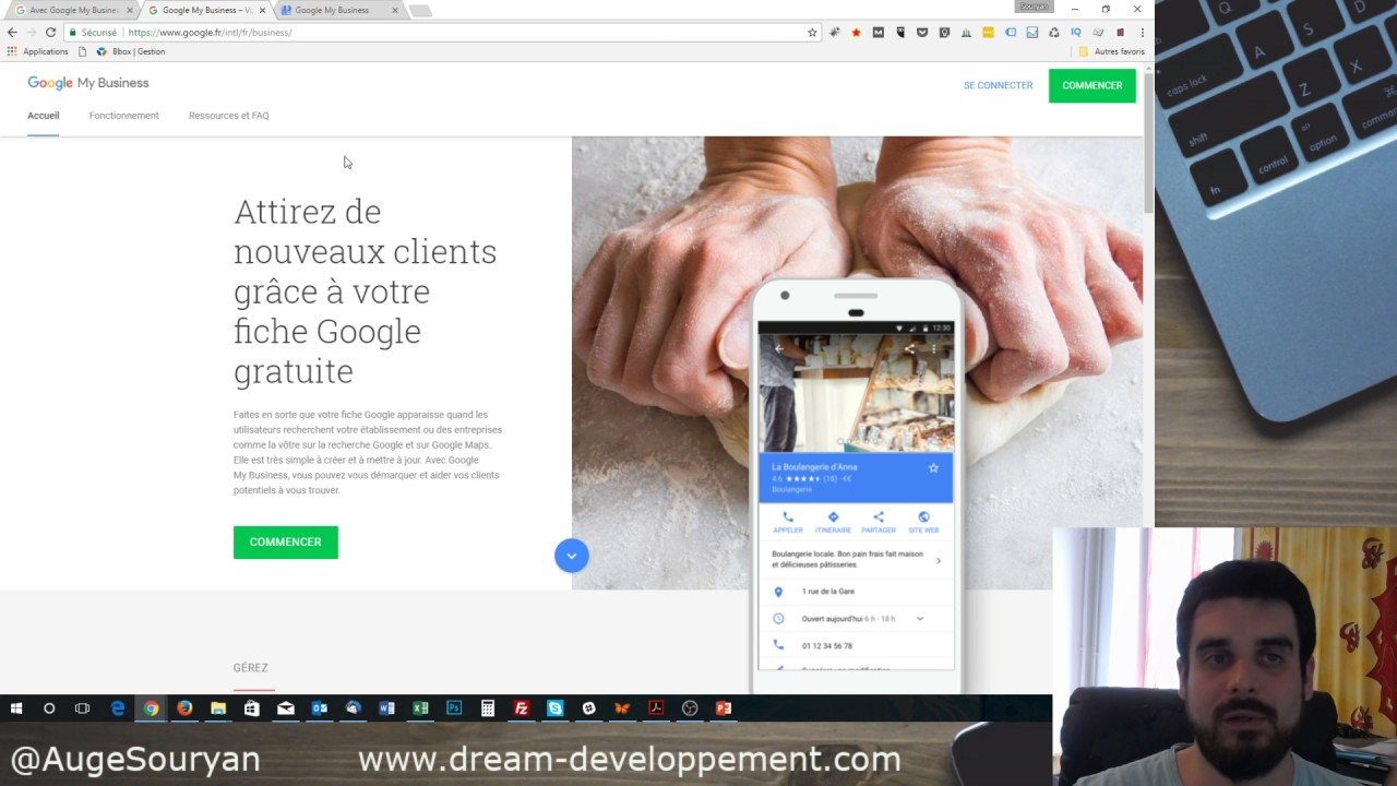 tuto pour cr er un site internet gratuitement avec google my business youtube. Black Bedroom Furniture Sets. Home Design Ideas